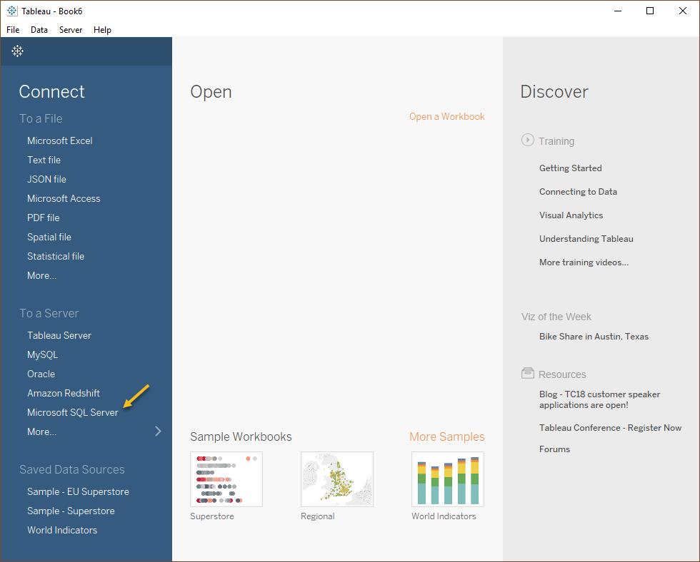 Connecting from Tableau — Querona documentation